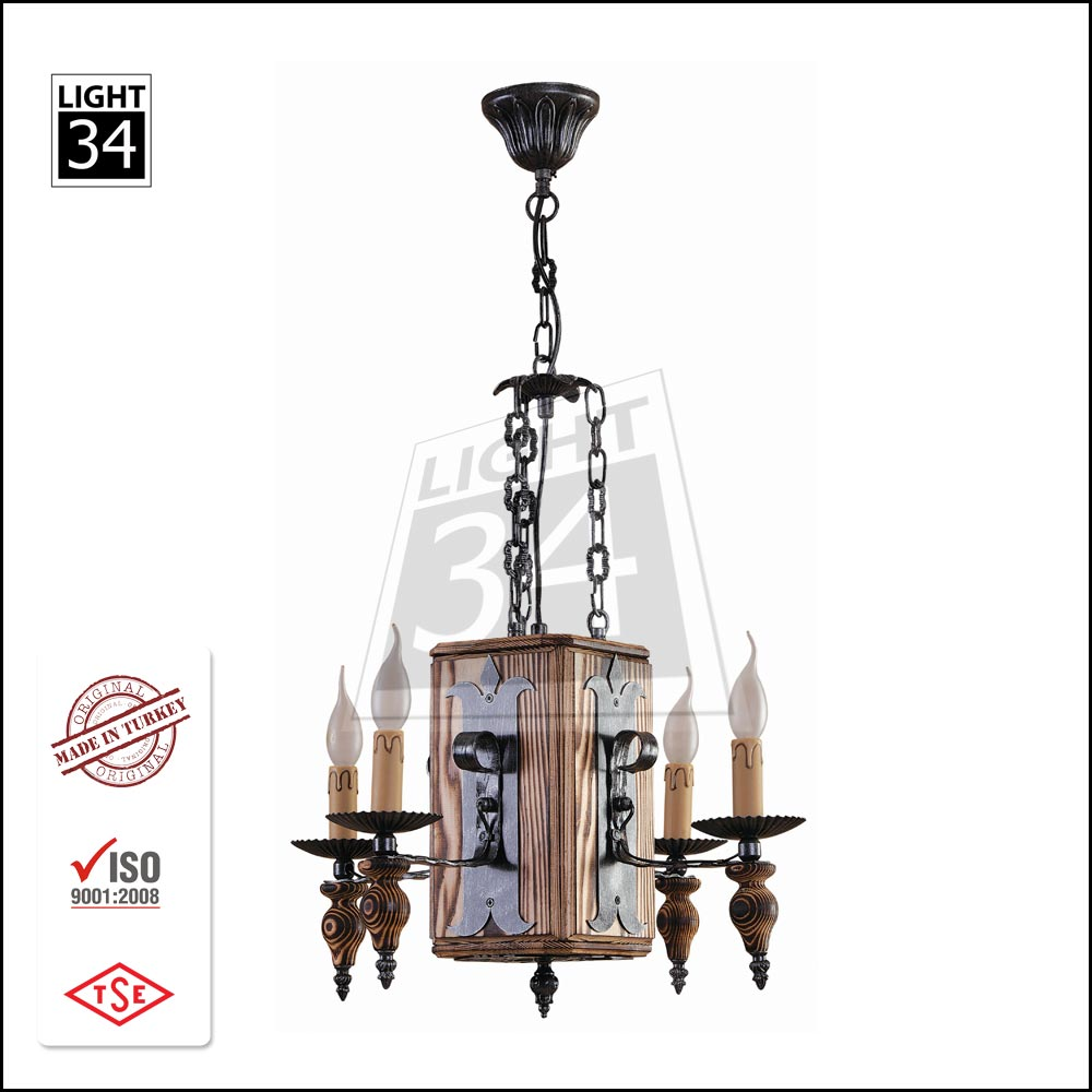 Top Quality Wooden Turkish Lampshade Home Decoration Chandelier Wholesale Avize