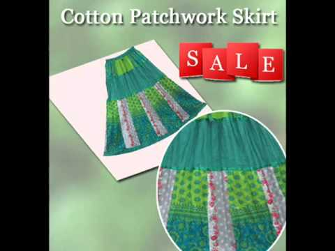 Vintage Style Cotton Patchwork Skirts