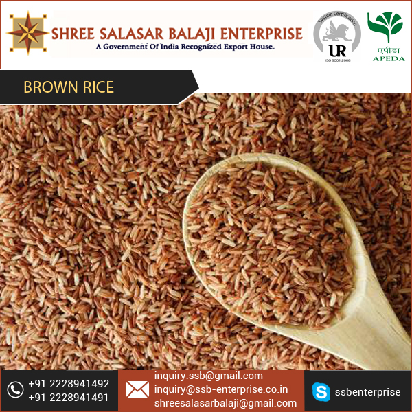 Price of Brown Rice with Hygienically Packed and Precisely Processed