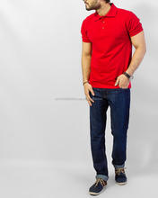 High quality adults short sleeve plain mixed sizes custom red 100% pique cotton polo t shirt men