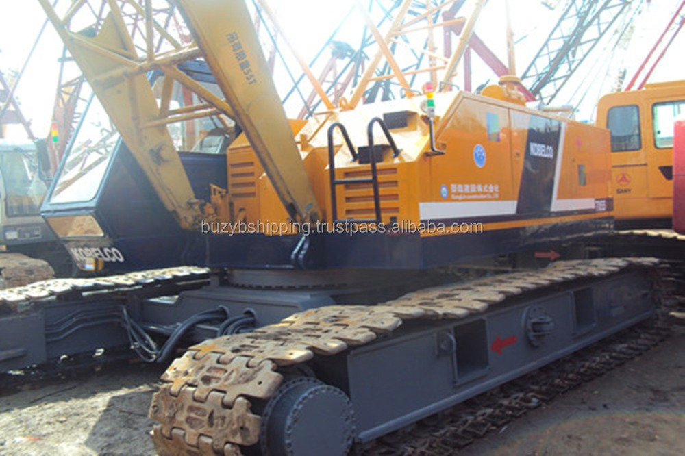 Good working condition Kobelco crane 7055 /Japanese used crawler crane 55ton
