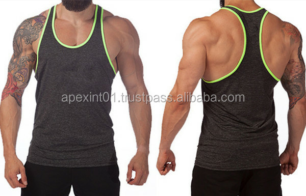 Gym Singlets Mens Tank Tank Top Stringer Bodybuilding and Fitness Men's stringer vest Sports gym stringer