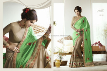 Heavy Embroidery Designer Saree+Net pallu+Rimjhim skirt with jequard blouse