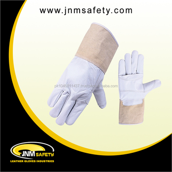 cow and sheep grain leather Tig Welding gloves