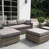 Evergreen Wicker Furniture Sectional Sofa Rattan