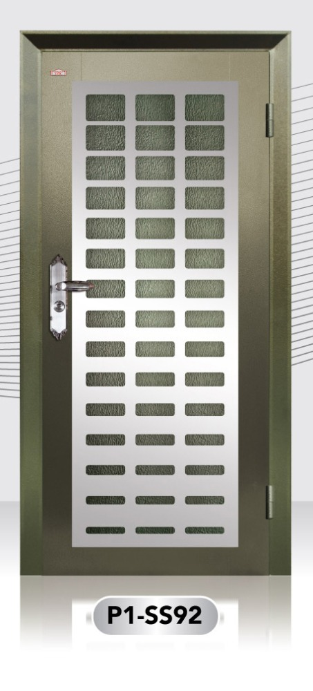 High Quality Stainless Steel Design Security Door Made from Malaysia