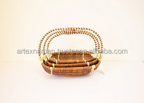 Vietnam supplier high quality handmade rattan gift storage basket