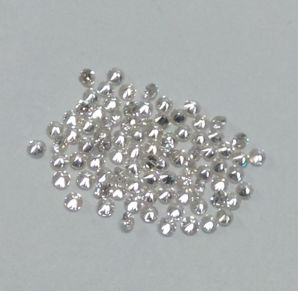 Wholesale Natural Diamond 1.80 mm Loose Gemstone Round White Diamond
