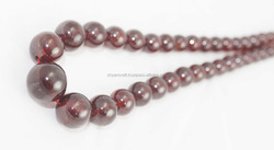 Natural Hessonite Garnet Smooth Round Beads, Gemstone beads, Hessonite Garnet Beads, Beads Necklace