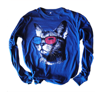 T-Shirts Cat 3d 100 % Cotton peruano
