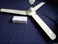 Rechareable ceilng fan