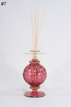 Fancy design perfume reed car diffuser glass bottle with wooden corks