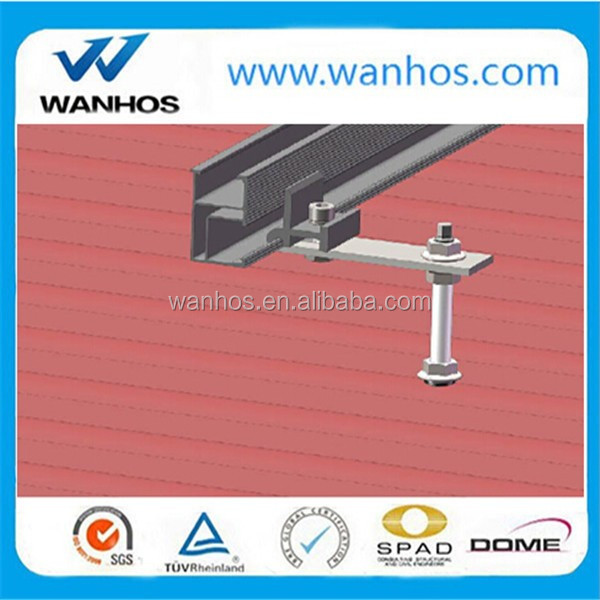 Aluminum mounting brackets for solar panel mounting