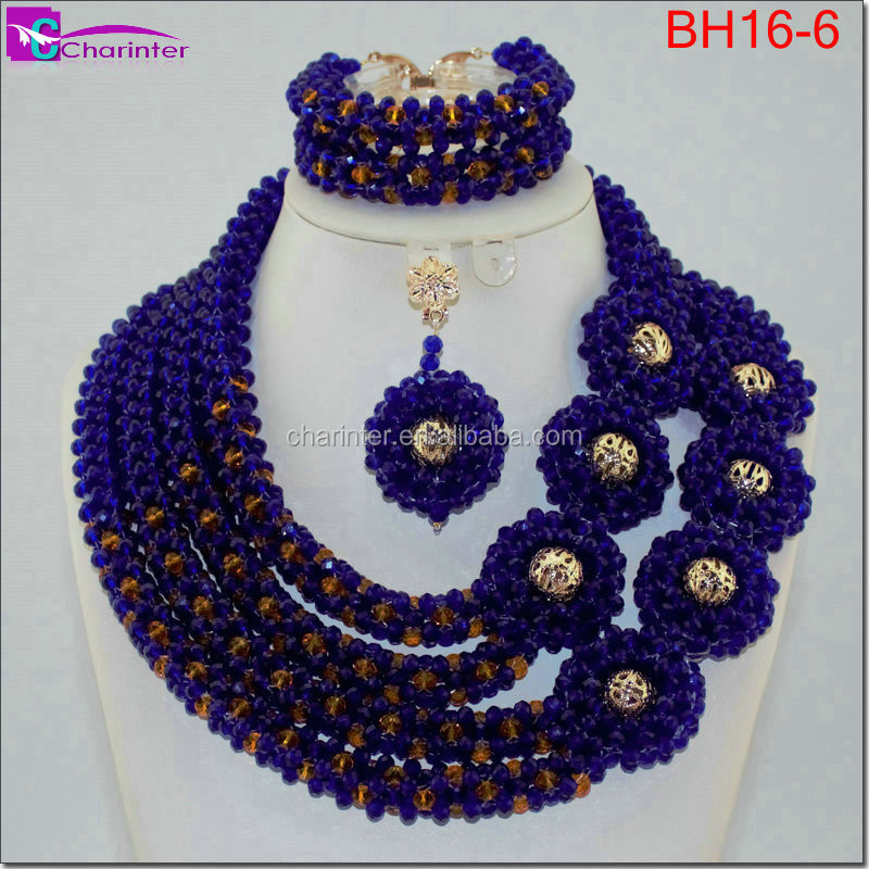 africa beads necklace coral beads nigerian bridal jewelry set african beads jewelry set BH16-6