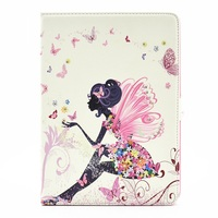 Wholesale Case For iPad Pro 9.7 Butterfly Series Rhinestone Decorated Smart Leather Stand Case - Butterfly-like Girl