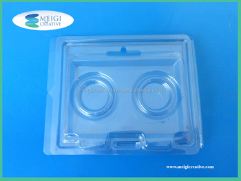 Clear Custom PET Plastic Clamshell, Game Token Packaging