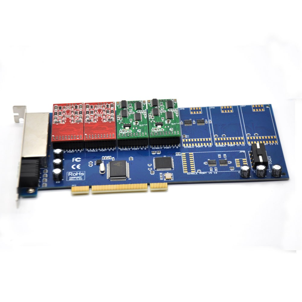 Asterisk card, TDM800P ,TRIXBOX IP-PBX ZAPTEL , have 4/6/8 ports voice card