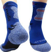 Everlis Antibacterial Climbing Cushion Half Crew Cotton Sports Socks for Men by Leevo