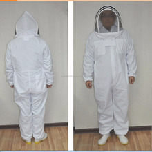 Bee Keeping Suit with hat, cotton beekeeping protective hat / beekeeping suit