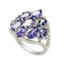 "Indian Popular Real Gemstone Solid Tanzanite ""AA"" Stone Ring, 925 Sterling Silver Ring, Natural Gemstone Low Price Silver Ring"