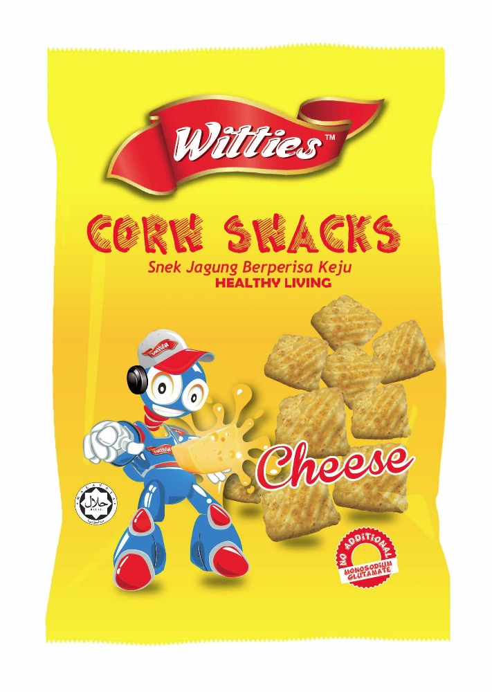 WITTIES CORN SNACKS HEALTHY FOOD CHEESE FLAVOR NO ADDITIONAL MONOSODIUM GLUTAMATE