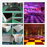 materials for dance floor wedding decoration event crystal box