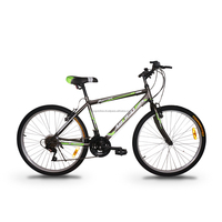 "ASOGO 26"" MTB Bike Mountain Bicycle 18 Speed Matte Brown with Green"