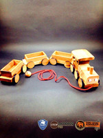 Hot item!! Wooden puzzle mini train wooden toys