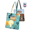 "USA Made Full Color Sublimated Slick Tote Bag - made of 600 Denier polyester, measures 14""H x 14""W and comes with your design."