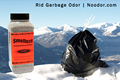 SMELLEZE Natural Garbage Smell Removal Deodorizer: 2 lb. Granules Rids Smelly Trash Stench