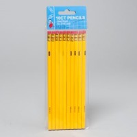 PENCILS 10CT #2 LEAD YELLOW BARRELS ONLY OPP BAG WITH #G02624N