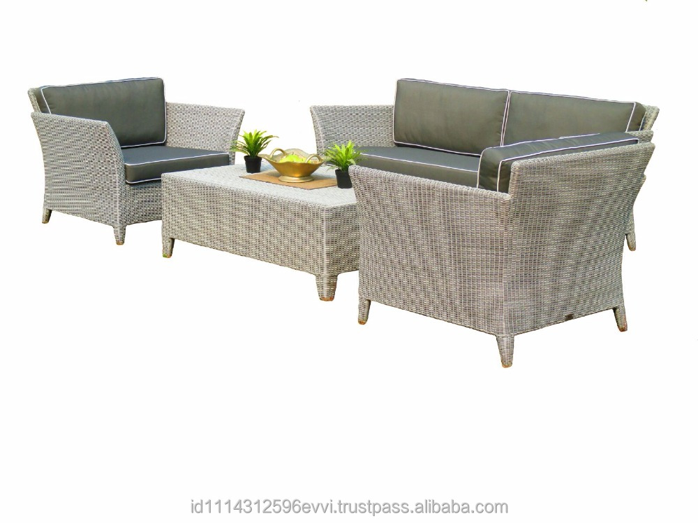 Modern Outdoor Indoor Synthetic Rattan Sofa Furniture Oceane Set (with aluminium frame)