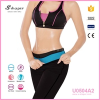 S-SHAPER Neoprene Slim Body Shaper Pants,Women Reversible Sauna Pants,Hot Ultra Sweat Shorts
