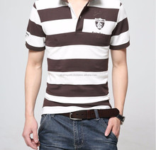 Double Mercerized Cotton Polo Shirts Yard/Dye Stripe Shirts,Fashion Wholesale Striped Yarn Dyed Brand Polo T Shirts Me