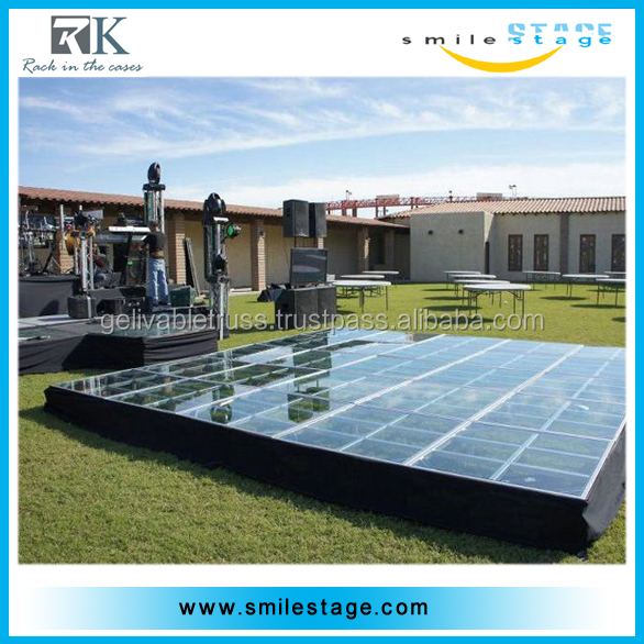 Aluminum wooden stage portable stage backdrop used stage curtains