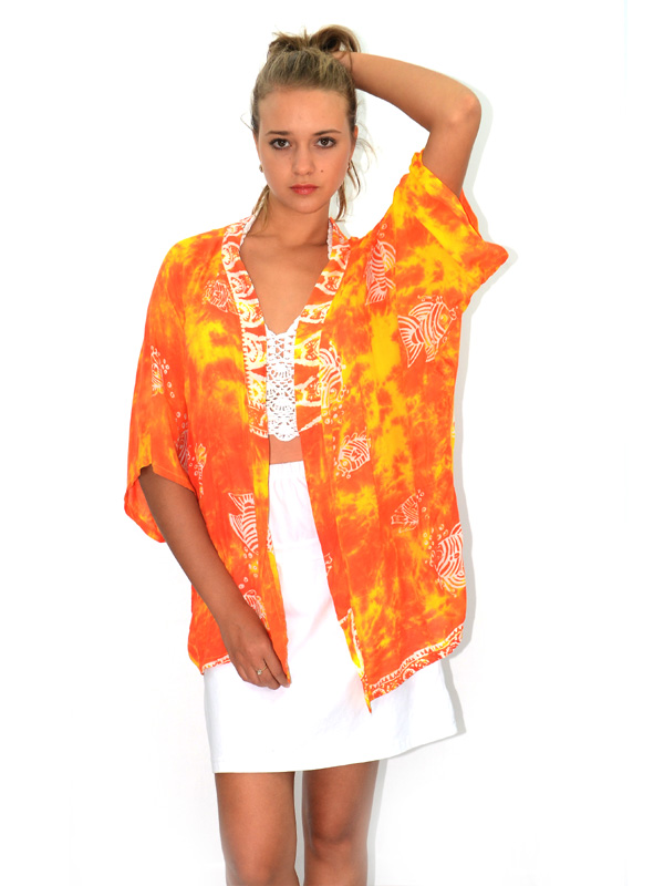 Rayon Beach Resort Wear Dress Bali Batik Printed Tie Dyed Stamped Painted Pareo Sarong Cover-ups Cover Up