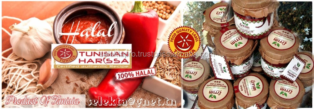 Halal Tunisian Hot chilli puree with Olive Oil