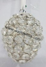 Classic crystal hanging items and ball centerpieces