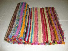 Handmade Cotton Yoga Mat Indian Reversible Muslim Prayer Rag Rug ALIYM116