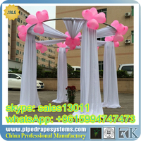 portable 8-14 feet pipe and drape, aluminium pipe and drape with poly premier fabric for stage