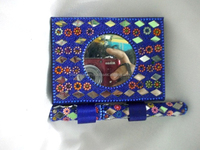 fancy handmade pocket diary/ wholesale indian traditional handmade embossed journal/ notebook with beautifully decorated pen