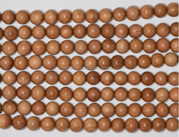 sandalwood-handmade beads/meditation sandalwood mala/sandalwood beads