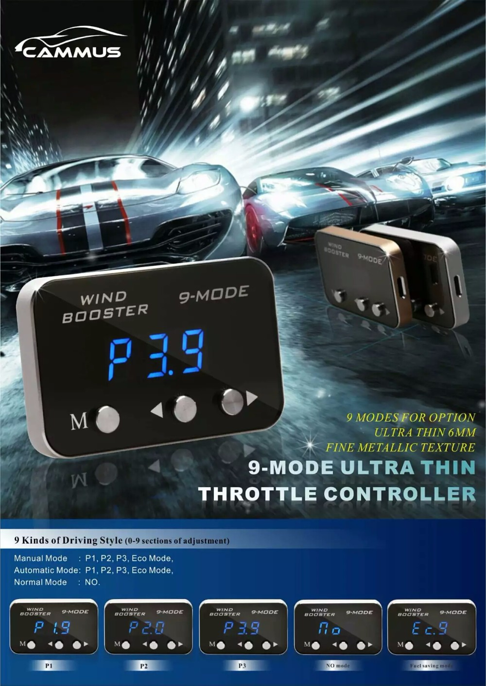 Windbooster peugeot partner manual throttle controller 9 mode mooer delay pedal for Ford