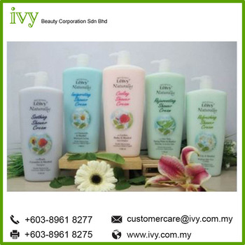 Leivy Naturally shower gel Summer Range with Menthol skin whitening shower gel bottle made from Malaysia