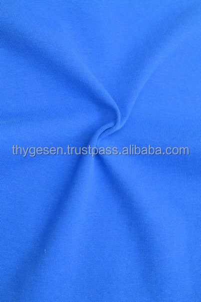 Rib fabric 100% cotton spandex high quality