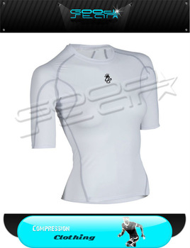 2016 Skin Tops Running Jersey Long Sleeve V Neck Baselayer Compression Yoga Clothing White