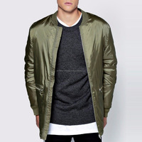 Custom Men Bomber Jacket with Leather Sleeves 2016 Latest design man clothes