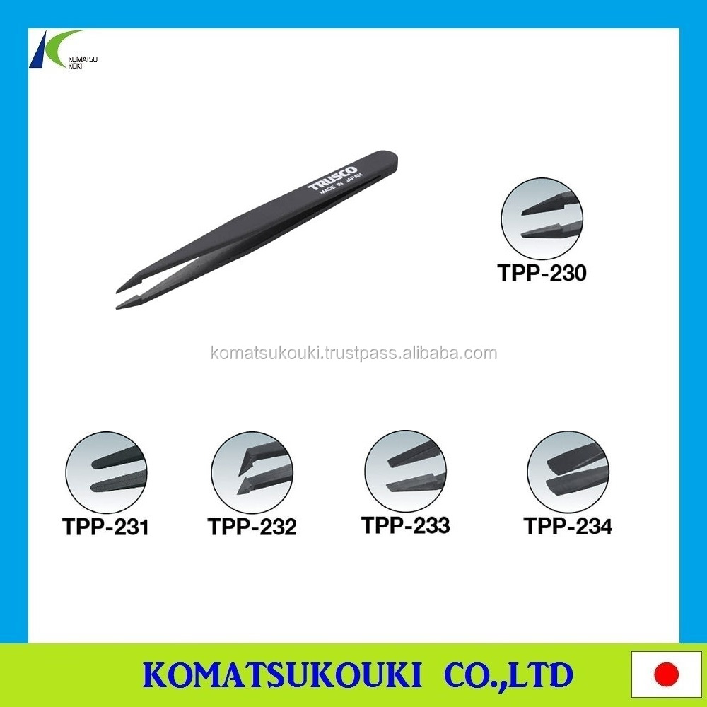 Best-selling and latest plastic tweezers (non-magnetic) with high performance, Made in Japan