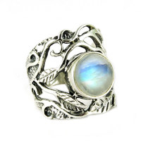 Just Glow !! Rainbow Moonstone 925 Sterling Silver Ring, 925 Silver Ring For Beautiful Man And Women, Silver Jewelry