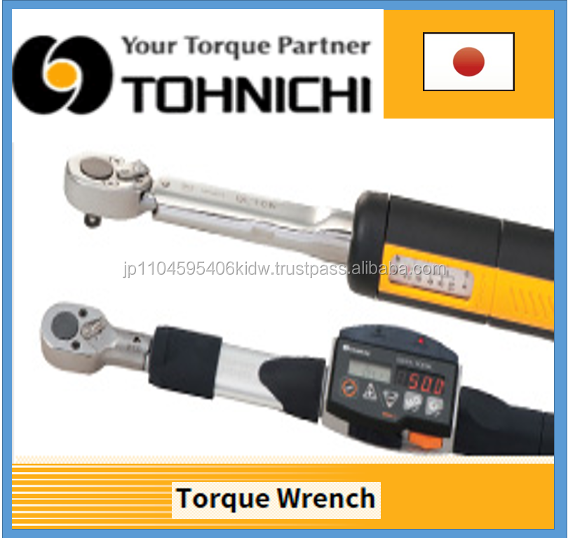 High precision and High quality controlled impact Tohnichi torque wrench for various purpose
